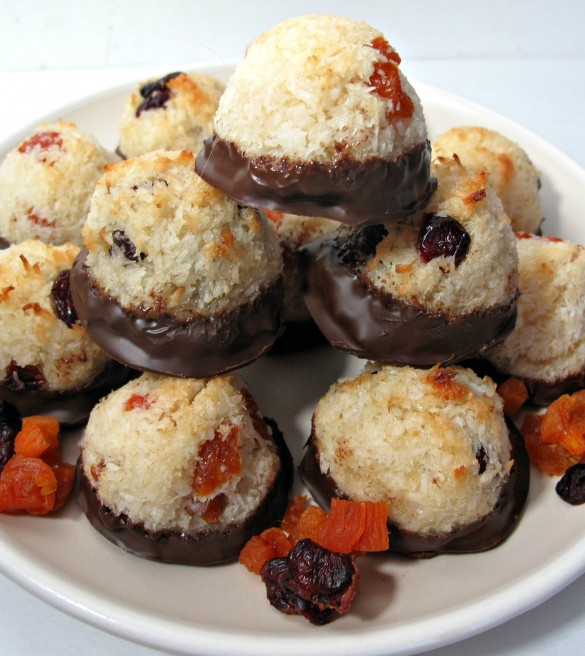 Apricot and Cranberry Macaroons (Gluten Free and Kosher for Passover)