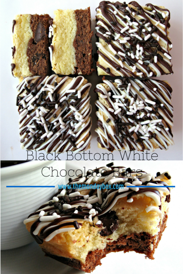 Black Bottom White Chocolate Bars