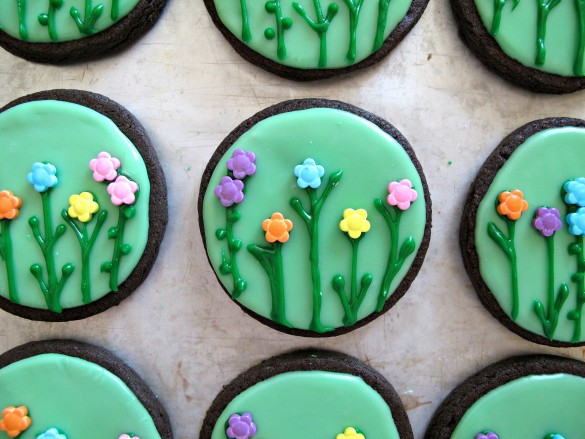 Spring Flowers & Sunshine Iced Sugar Cookies