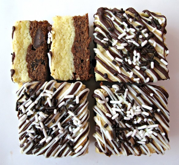 Black Bottom White-Chocolate Bars