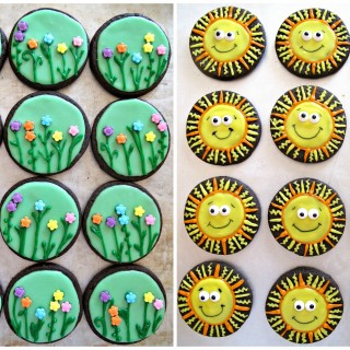 Spring Flowers & Sunshine Iced Sugar Cookies and Military Care Package #12