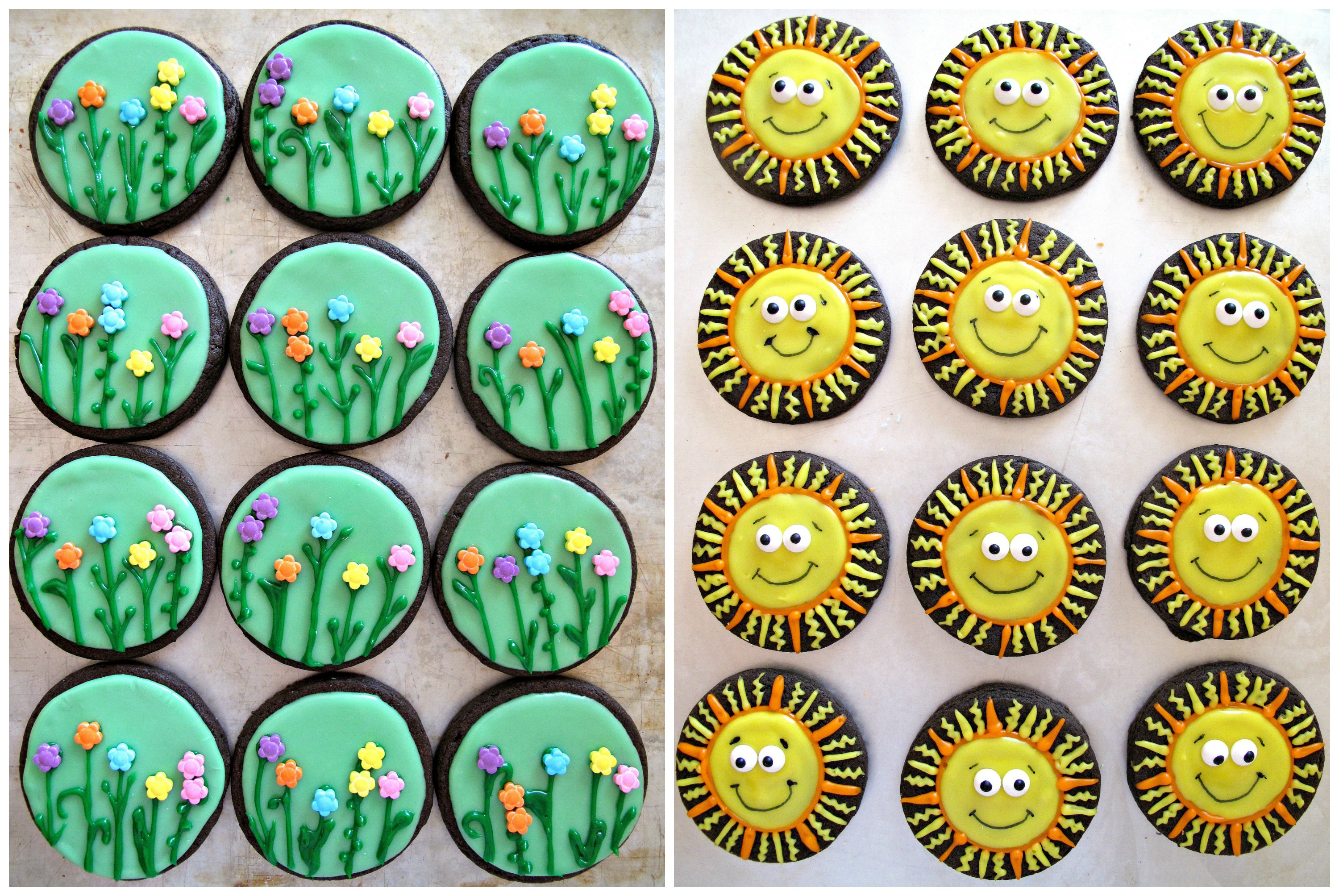 spring flowers u0026 sunshine iced sugar cookies and military care