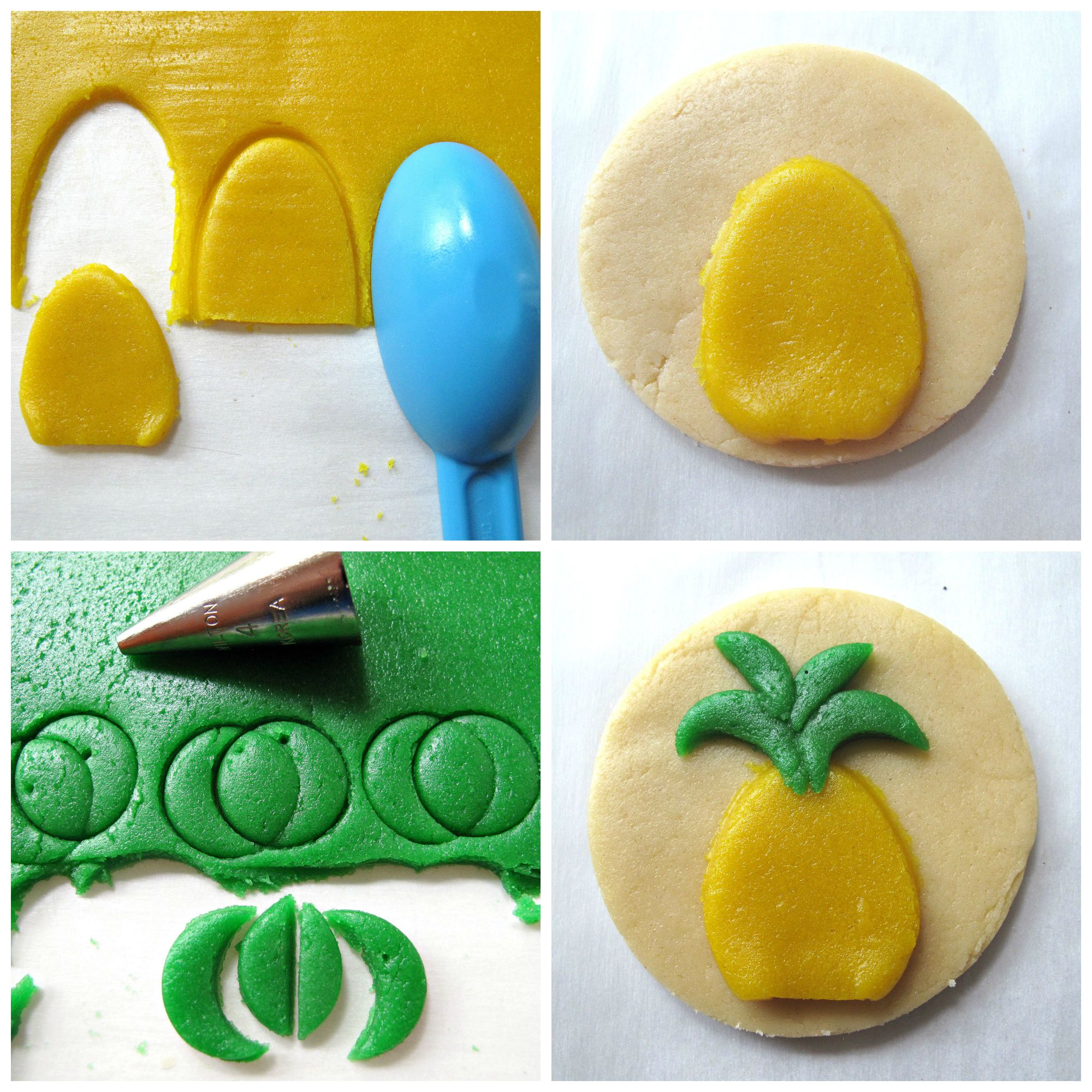 Palm Tree and Pineapple Sugar Cookies for Military Care Package #16 ...