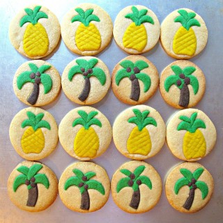 Palm Tree and Pineapple Sugar Cookies for Military Care Package #16