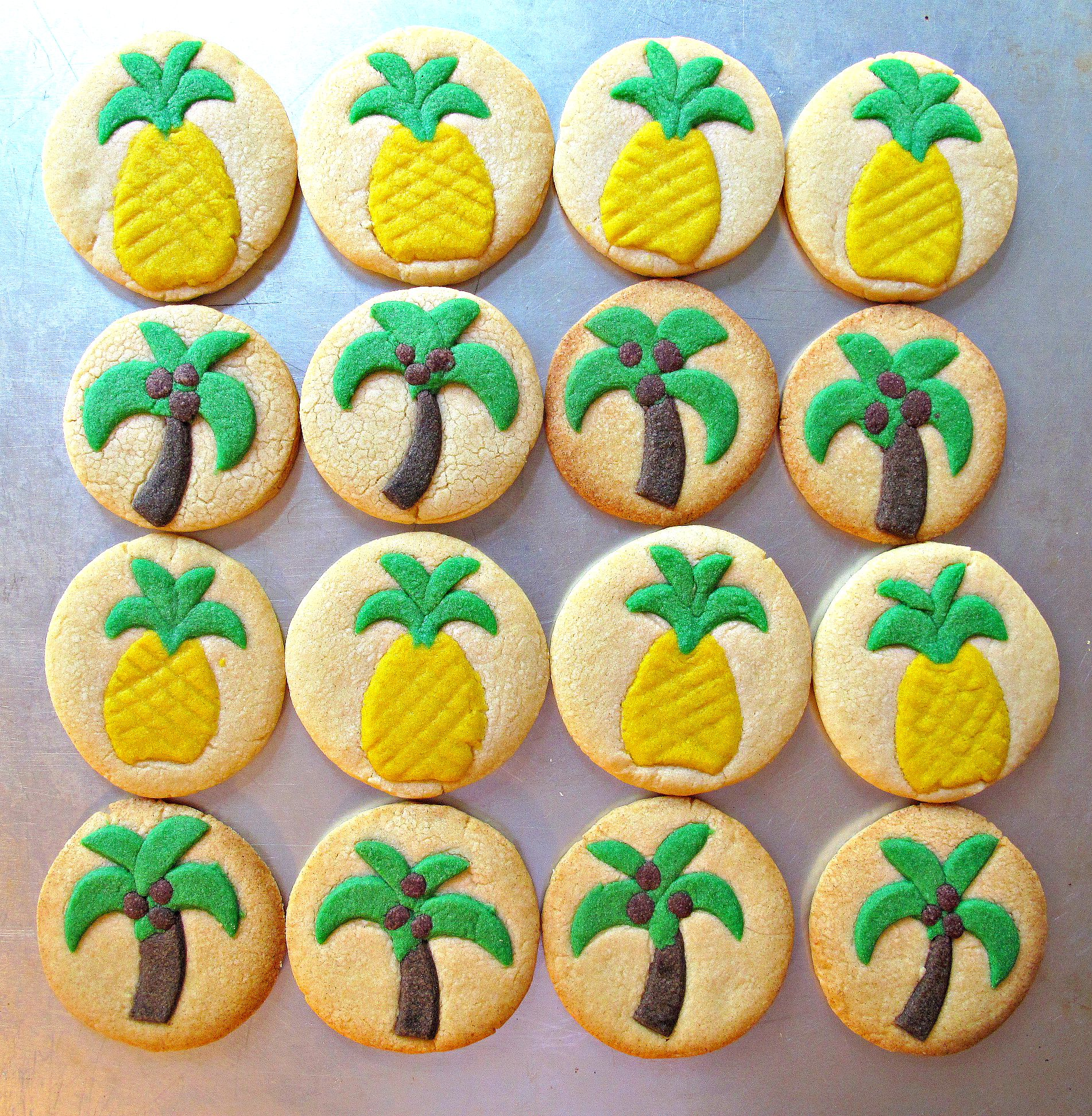 Palm Tree Pineapple Sugar Cookies For Military Care Package 15 The