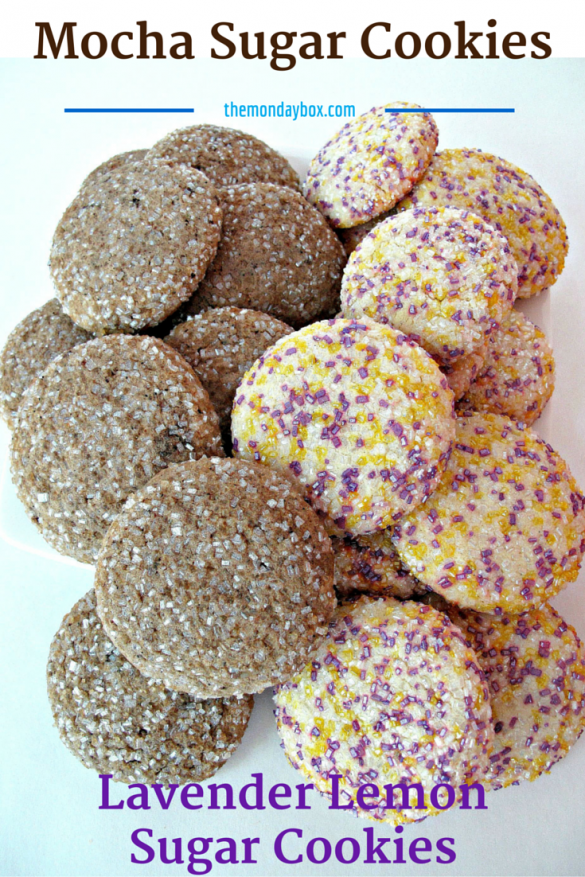 Mocha & Lavender Lemon Sugar Cookies
