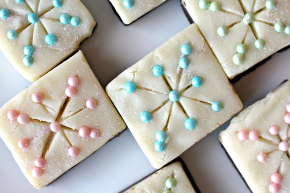 Snowflake and Christmas Wreath Fudge