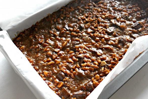 Caramel Chocolate Peanut Bars