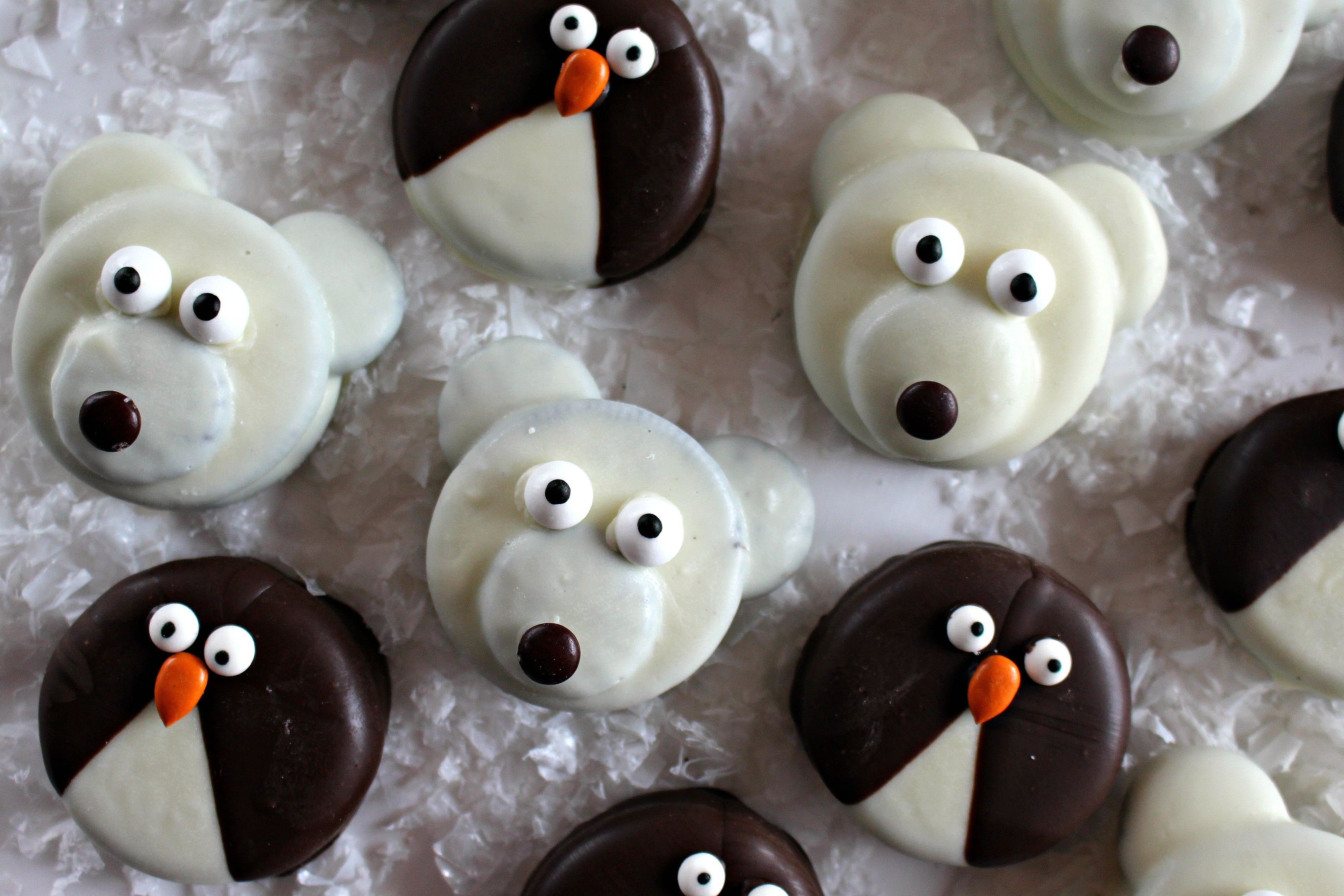 Penguin and Polar Bear Oreos for Military Care Package #17 - The ...