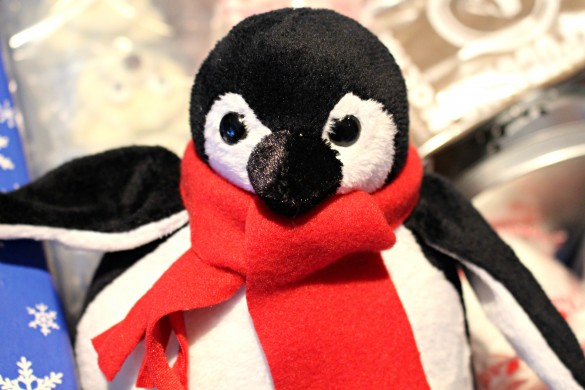 Stuffed toy penguin for a Penguin and Polar Bear themed military care package