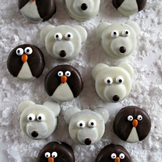 Penguin and Polar Bear Oreos