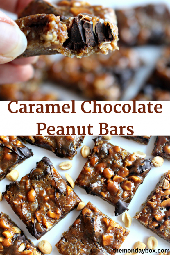 Caramel Chocolate Peanut Bars
