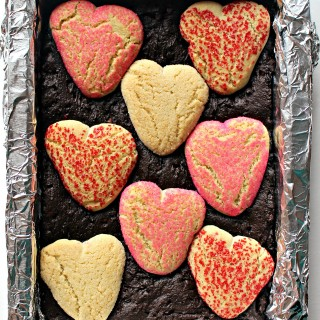 Sugar Cookie Valentine Brownies