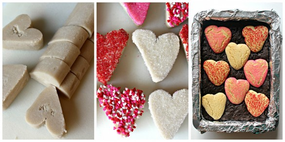 Sugar Cookie Valentine Brownies