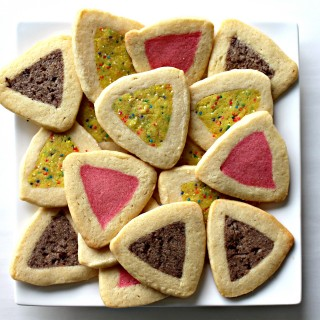Slice and Bake Hamantashen, buttery sugar cookies with flavored centers.|The Monday Box