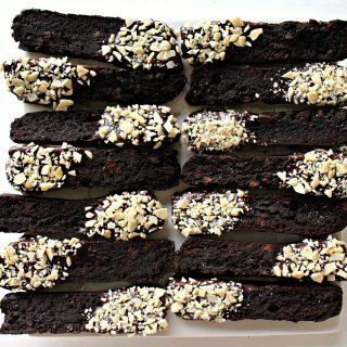 Double Chocolate Passover Biscotti (GF)