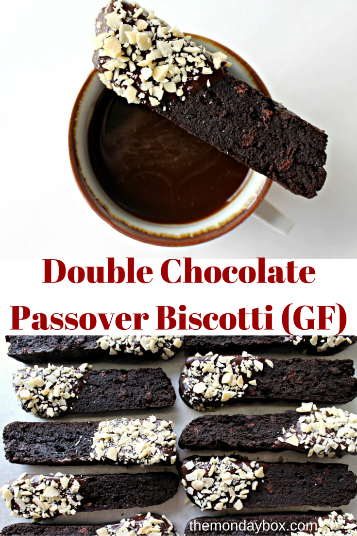 Double Chocolate Passover Biscotti (GF)- Crunchy and super chocolaty ...