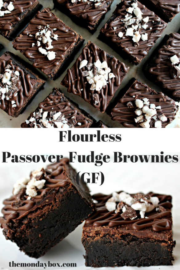 Flourless Passover Fudge Brownies (GF)