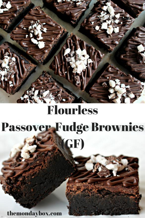 Flourless Passover Fudge Brownies (GF)