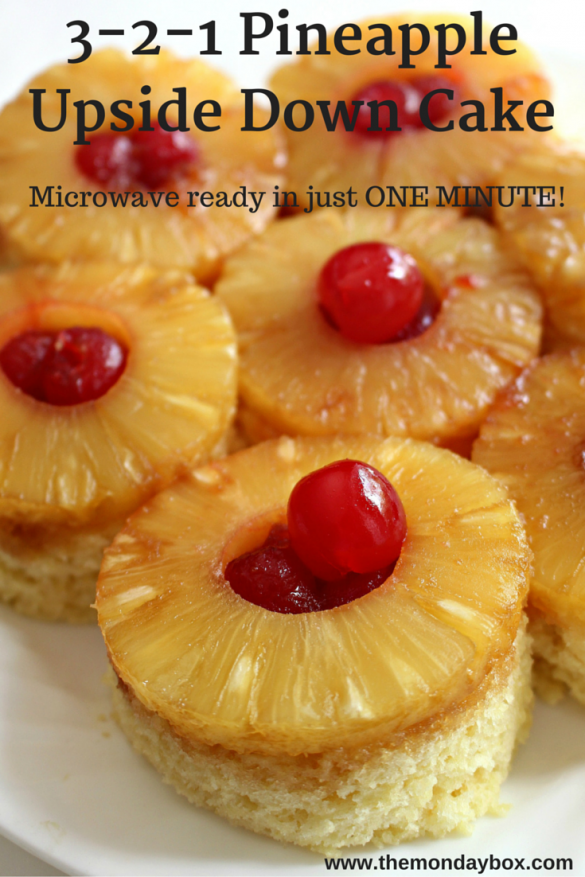 3-2-1 Pineapple Upside Down Mug Cake