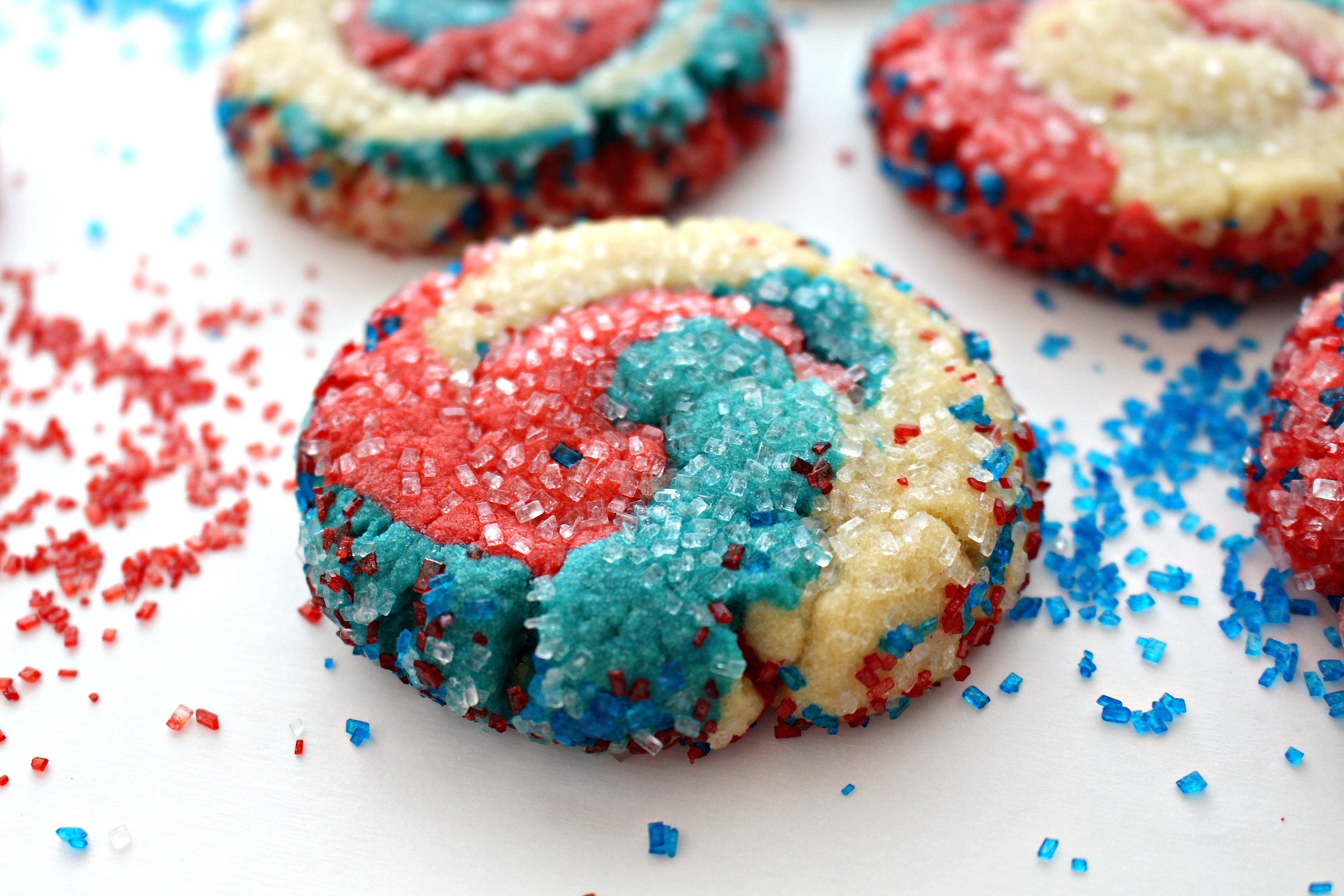 Fireworks Sugar Cookies for Military Care Package #21 - The Monday Box