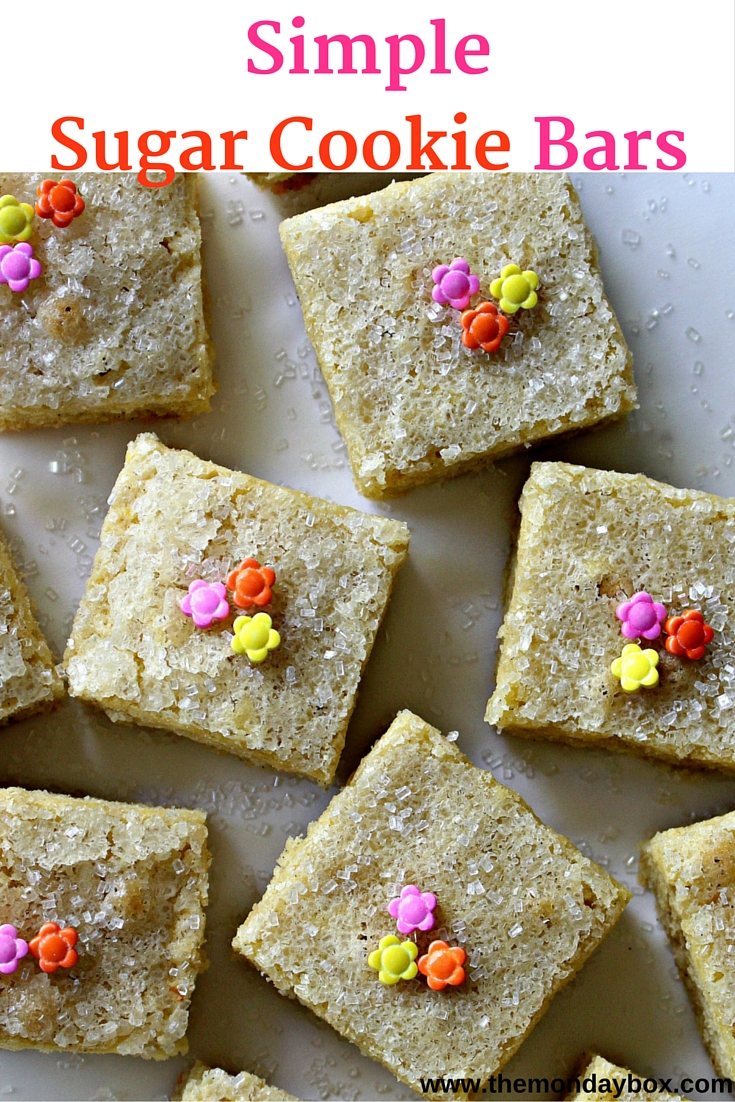 Simple Sugar Cookie Bars The Monday Box