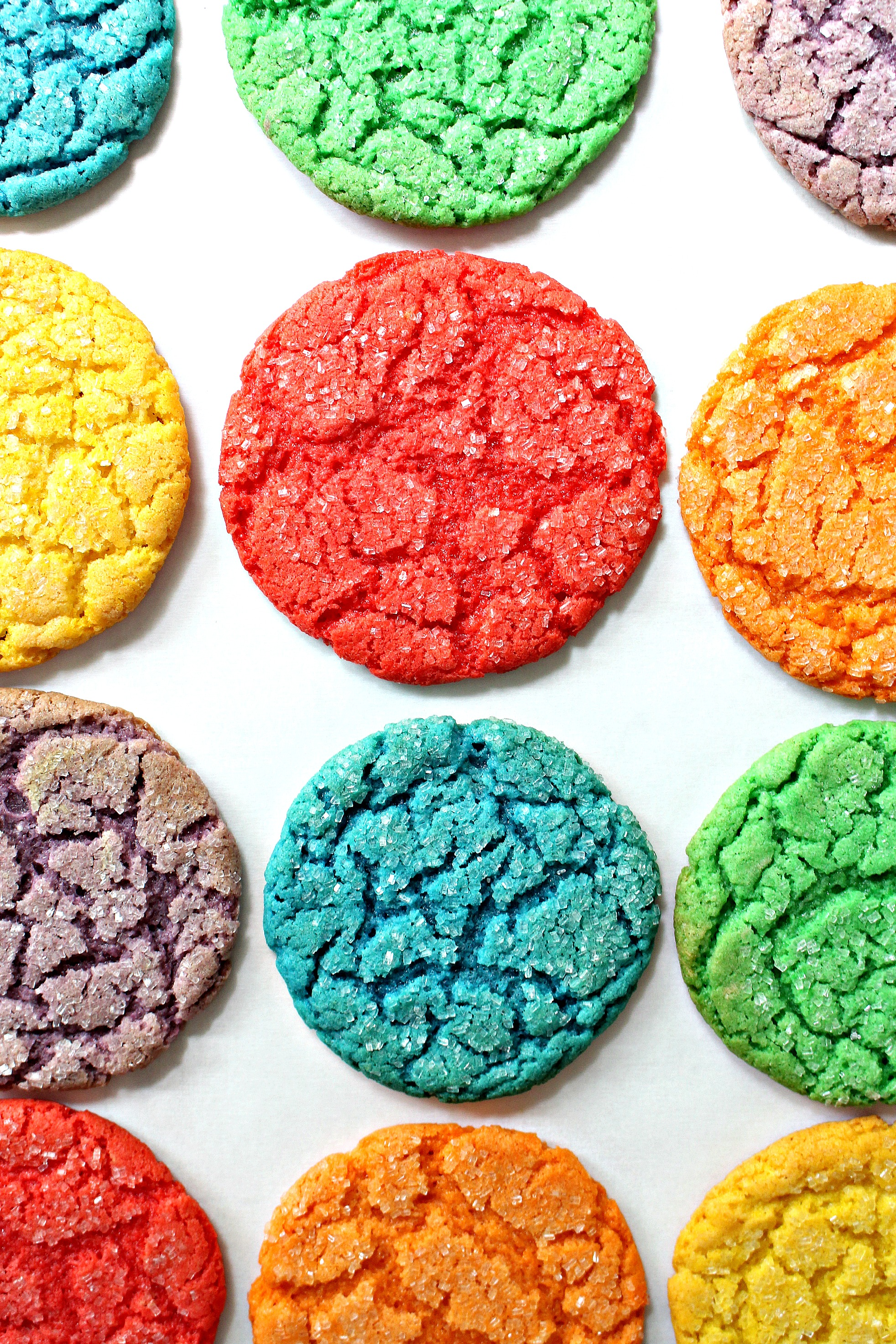 Rainbow Cake Mix Cookies for Military Care Package #23 - The Monday Box