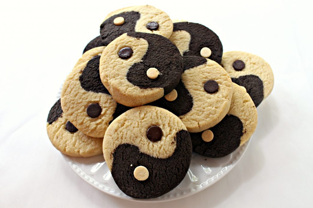 Yin Yang Slice-and-Bake Cookies
