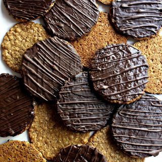 Chocolate Covered Hobnob Oat Cookies