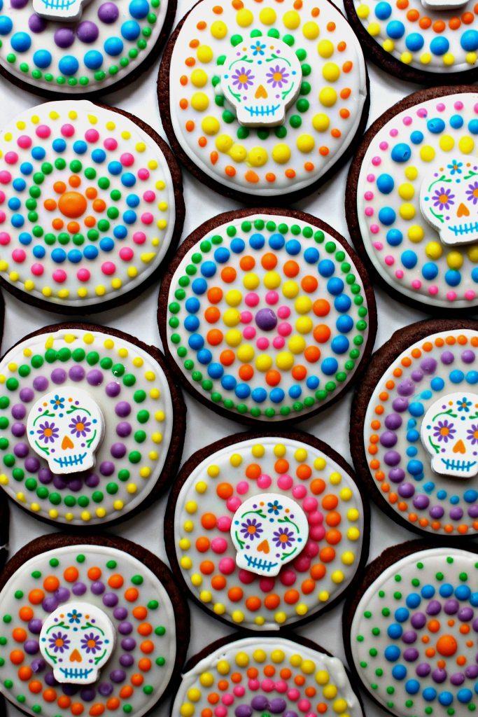Dia de los Muertos Sugar Cookies for Military Care Package #25