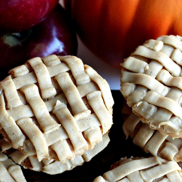 Apple Pie and Pumpkin Pie Cookies close up with icing details