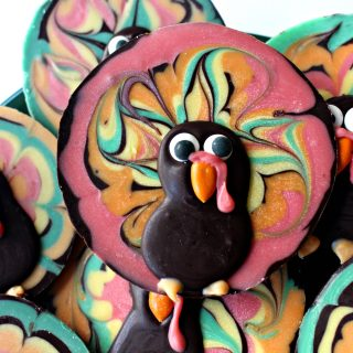 Chocolate Bark Thanksgiving Turkeys