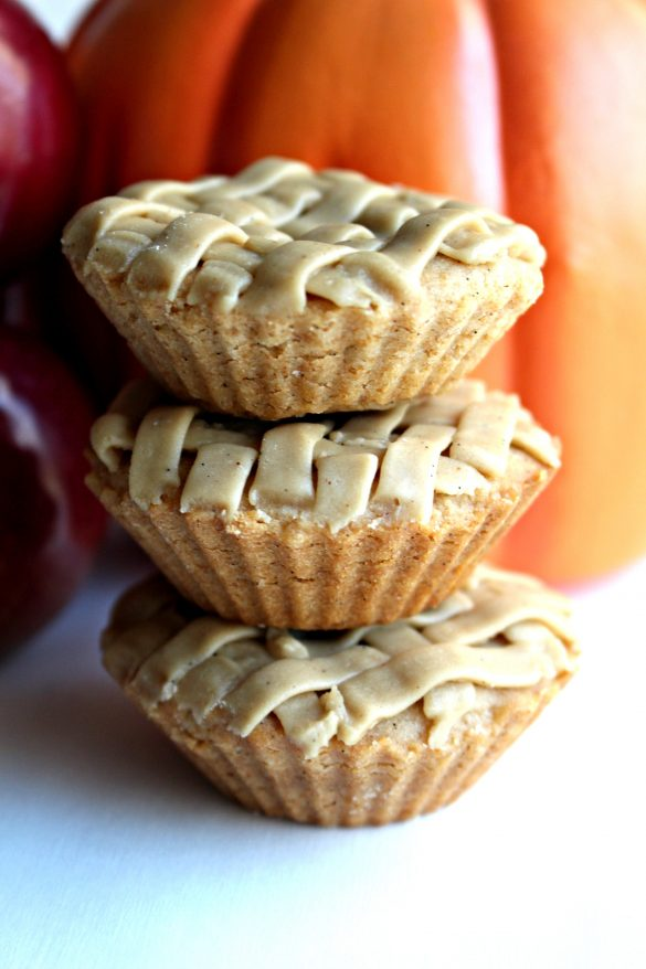 Apple Pie and Pumpkin Pie Cookies in a stack
