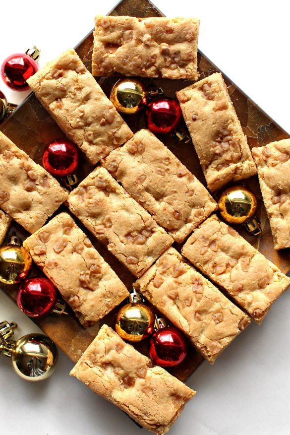 Butterscotch Blondie Bars (Time Saver Recipe)