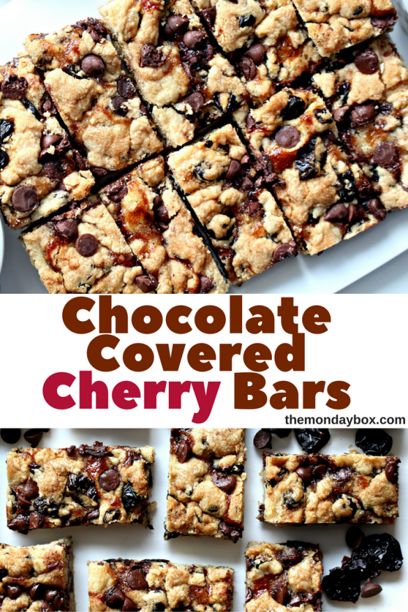 Chocolate Covered Cherry Bars (Time Saver Recipe)
