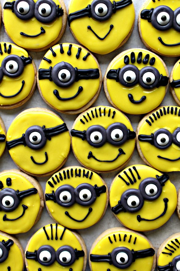 Minion Sugar Cookies