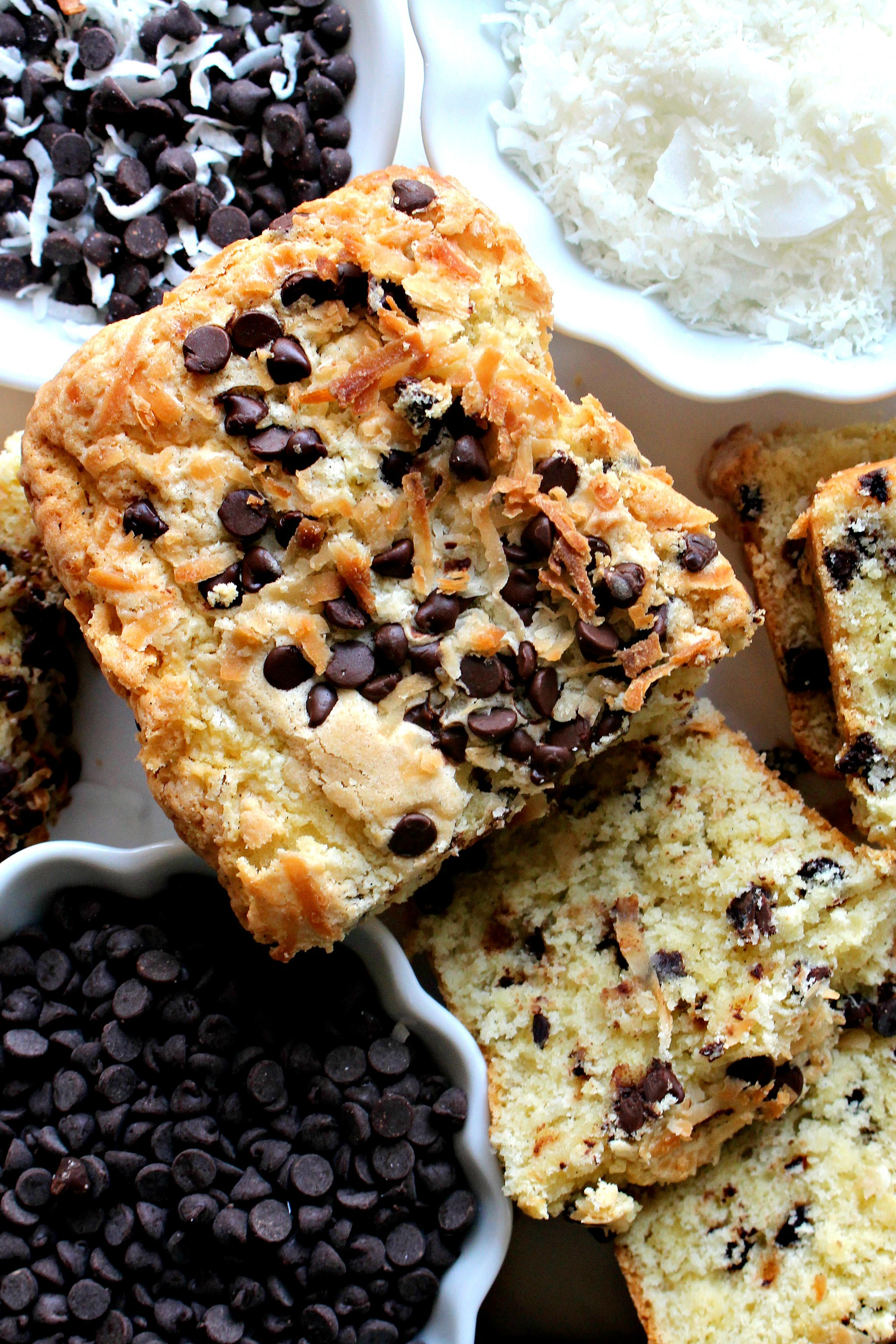 Coconut Milk Chocolate Chip Pound Cake is full of coconut flavor and ...