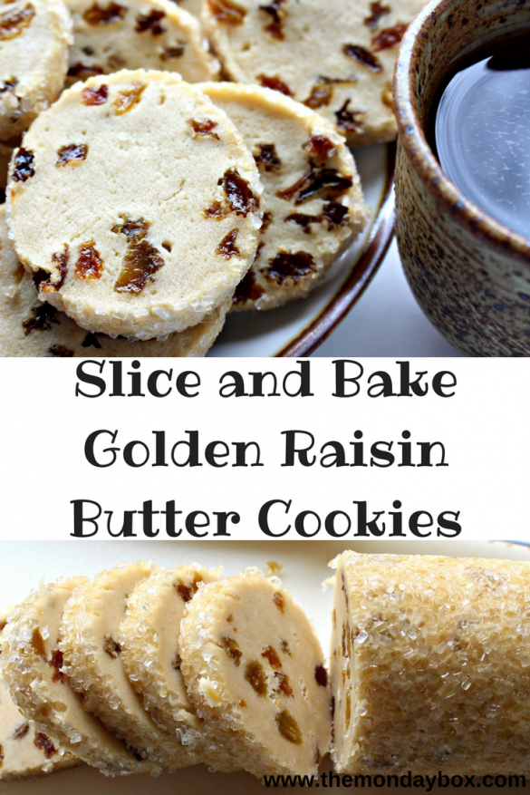Slice and Bake Golden Raisin Butter Cookies