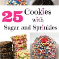 25 Cookies with Sugar and Sprinkles