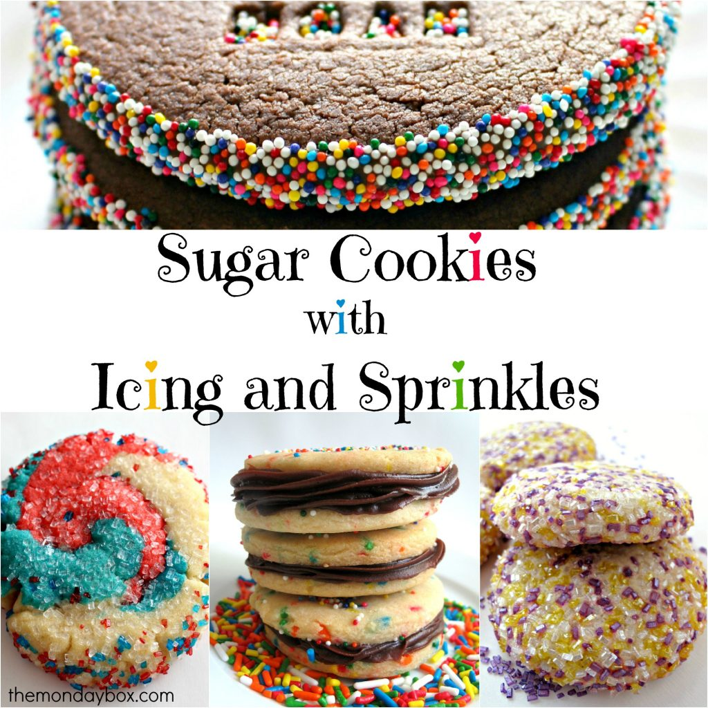 Sugar Cookies with Icing and Sprinkles