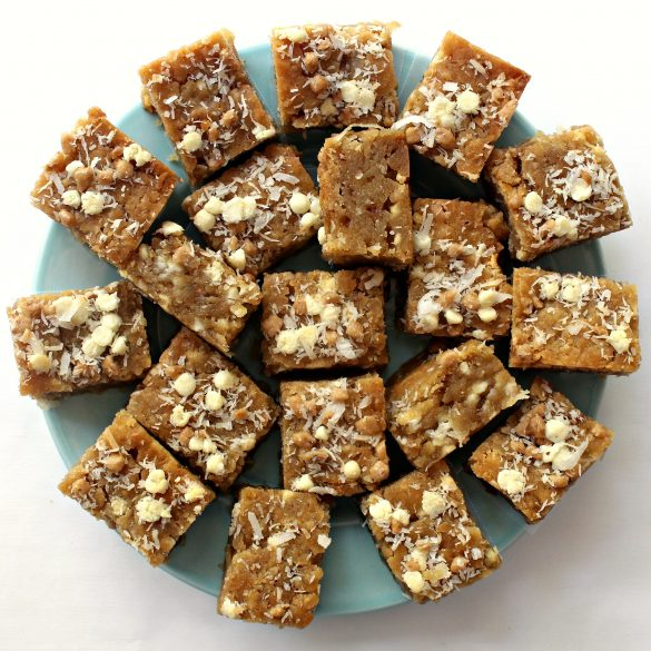 Coconut Milk Toffee Blondies