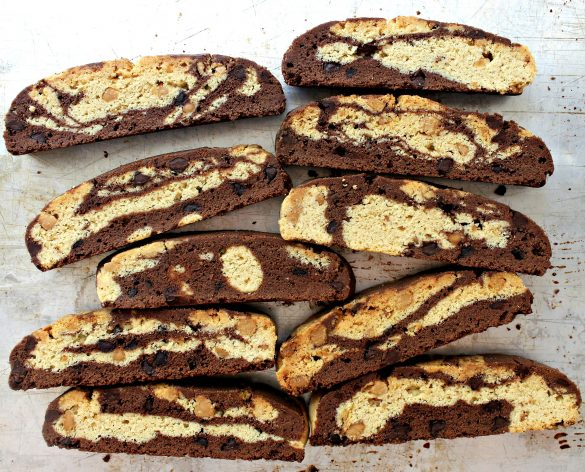Chocolate-Peanut Butter Marbled Biscotti - The Monday Box