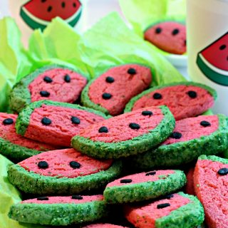 Watermelon Sugar Cookies