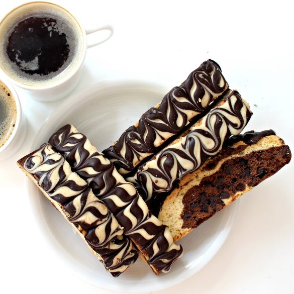 Chocolate-Peanut Butter Marbled Biscotti