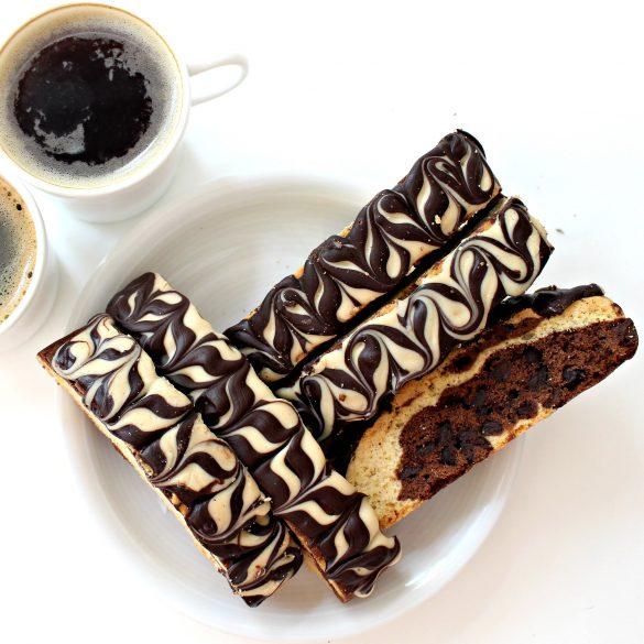Chocolate-Peanut Butter Marbled Biscotti
