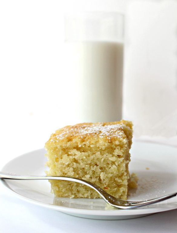 Coconut Milk Snack Cake