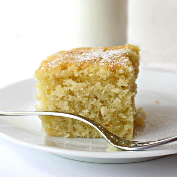 Coconut Milk Snack Cake