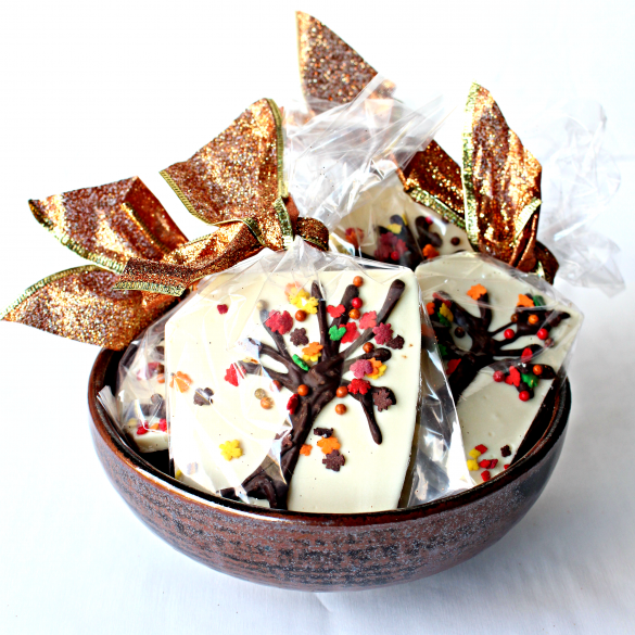 Thanksgiving White Chocolate Bark