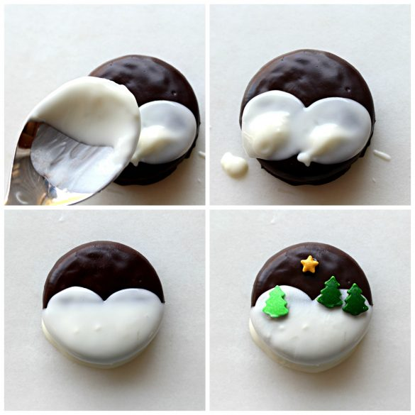 Winter Wonderland Chocolate Dipped Oreos