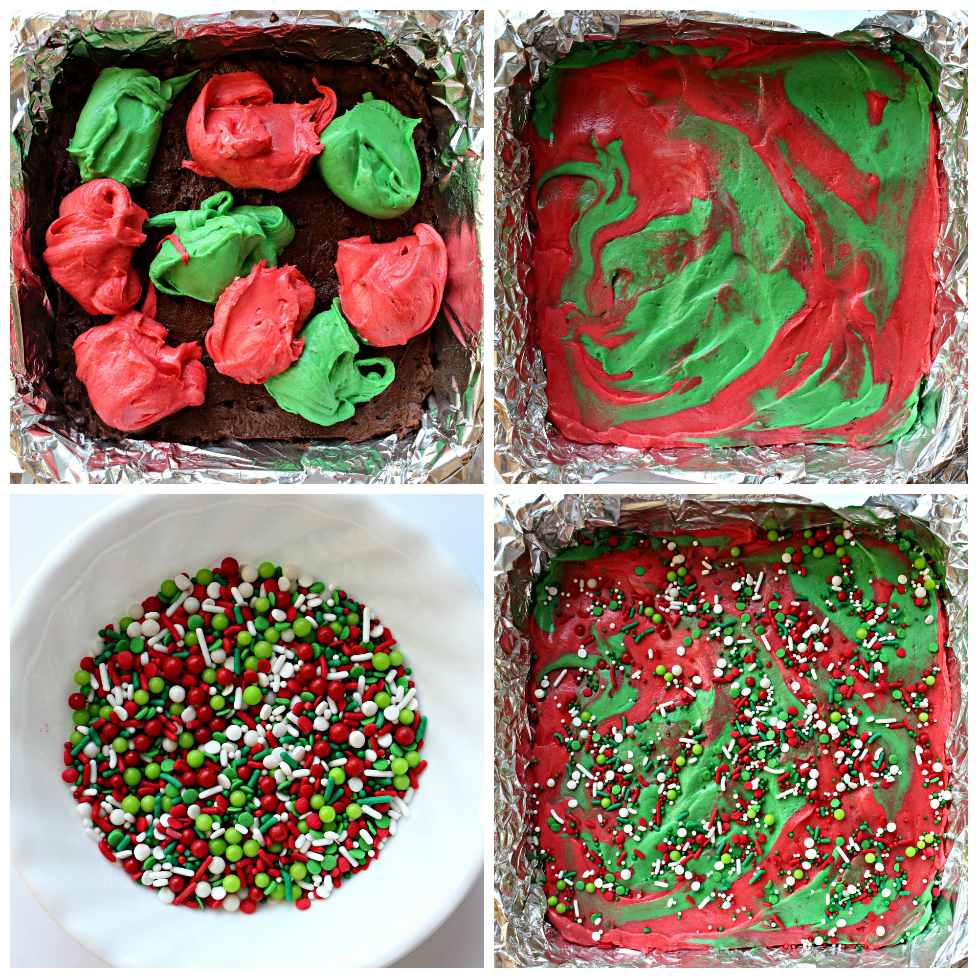 White Chocolate Peppermint Christmas Brownies